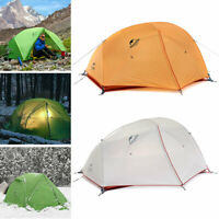 New 4 Seasons 2 Person Ultralight Camping Dome Tent w/ Mat Waterproof Outdoor