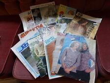 16 Vintage de tejer patrones 1960s - 1990s Patons, la UEM, Aubretia, Bestway, etc.
