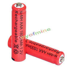 2x AAA battery batteries Bulk Nickel Hydride Rechargeable NI-MH 1800mAh 1.2V Re