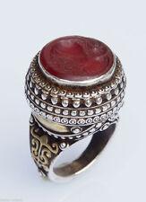 Echte Edelstein-Ringe im Siegelring-Stil mit Karneol