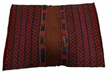 "Antique Northwest Persian Saddlebag Rug Hand woven Carpet Red 3'4"" x 4'9"" C.1940"