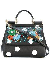 EXCEPTIONAL DOLCE&GABANA SICILY EMBELLISHED LEATHER TOTE BAG-NWT$2995 100% AUTHE