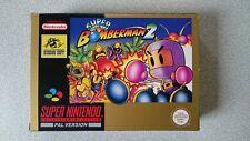 Boite Seule Super Bomberman 2 SNES Comme Neuve NOE BOX ONLY !!!