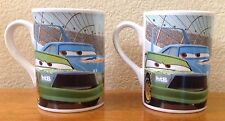 2008 Disney Pixar Cars Coffee Mug, Lightning McQueen, Chick Hicks, The King