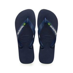 Mens Havaianas Brazil Logo Sandals Navy Blue U.S. Size 11/12 (New)