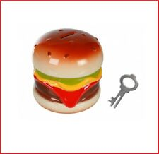 Hamburger,Hot Dog,Popcorn,Bier,Bar,Bistro Fridge Flach Food Magnet 4 Stck