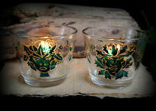 God & Goddess Glass Candle Holders Altar Wicca Pagan Witch Yule Handfasting