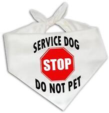 Stop Service Dog Do Not Pet - Dog Bandana One Size Fits Most Animal Assistance
