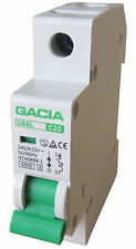 Leitungsschutzschalter GACIA SB6L 1P C20A, Sicherungsautomat MCB