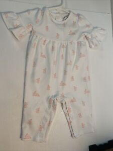 Janie And Jack Sz 3-6 Months Bunny Print ONE PIECE