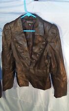 I.N.C. Women's Genuine Black Leather Motorcycle Jacket sz M NWOT
