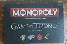 Monopoly Game of Thrones 2016 Collectors Edition. Hasbro HBO. Preowned VGC