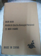 Hot Toys MMS110 Iron Man Mark 3 III Battle Damaged Tony Stark Comme neuf IN BOX bon marché