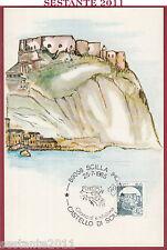 ITALIA MAXIMUM MAXI CARD ROMA 514 CASTELLO DI SCILLA RC 1985 ANNULLO B857