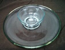 POTTERY BARN Glass Chip & Dip Set