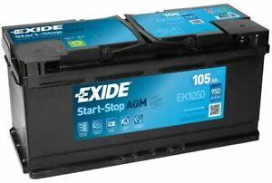 EXIDE EK1050 020 AGM Stop / Start Car Battery 12V 105AH 950CCA