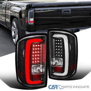 For 14-18 GMC Sierra 1500 2500HD 3500HD Pickup Black LED Tail Lights Brake Lamps