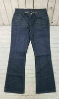 X2 Denim Laboratory Dark Wash Flare Leg Blue Jeans Women's Size 8 Regular