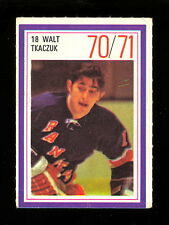 1970-71 ESSO POWER PLAYERS NHL 18 WALT TKACZUK EX-NM N Y RANGERS HOCKEY STAMP