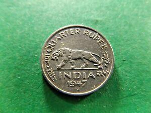 INDIA 1947 Quarter ( 1/4 ) Rupee