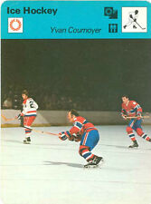 YVAN COURNOYER 1977 Sportscaster card #15-13 MONTREAL CANADIENS