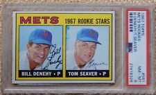 TOM SEAVER 1967 Topps #581 PSA 8 NM-MT Mets Rookies Rookie w/FREE RecordBreakr
