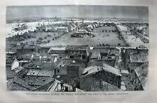 Kanton, Canton, Shamien, China - Gesamtansicht - Holzschitt von 1883