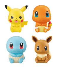 Bandai Pokemon Figure Clip Gashapon Pikachu Charmander Squirtle Eevee set 4 pcs