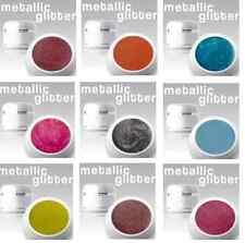 9 x 4 ml Metallic Glitter Gel SET Nr.16 *ANGEBOT