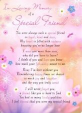 💔Grave Card IN LOVING MEMORY OF A SPECIAL FRIEND Poem Verse Memorial Funeral💔
