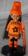2003 Mattel Wal-Mart Barbie Kelly Friends Deidre Orange Crayon, No Box