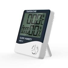 Indoor Thermometer Digital LCD Hygrometer Temperature Humidity Meter Alarm Clock
