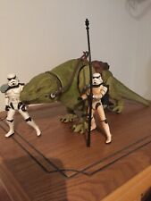 Star Wars Dewback Tatooine Creature and Stormtrooper Figures x2