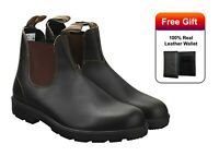Blundstone 500 Unisex Chelsea Ankle Boots Stout Brown Premium Leather Boots
