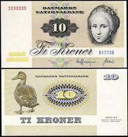 Denmark 10 Kroner P-48 UNC 1972-78
