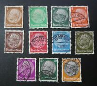 "GERMANY STAMPS USED 1933 HINDENBURG ""DEUTSCHES REICH"" CANCELED"