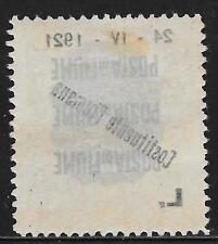 Fiume stamps 1921 Sassone 174o ERROR Mirrorprint  MLH  VF