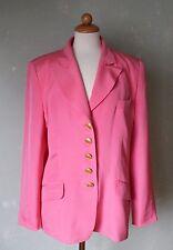 Renzo Blazer Jacke rosa pink schick 100% Seide langarm tolle Knöpfe Gr. 42 XL *