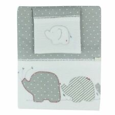 POPULAR Bubba Blue PETIT ELEPHANT Embroidered 3 Piece Bassinet Cradle Sheet Set