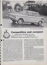 Moteur d'essai routier: 1966 NSU Typ 110 (6 pages essai routier)