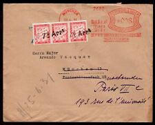 3952 GERMANY TO FRANCE TAXED COVER 1931 COMMERCIAL MACHINE CANCEL POSTAGE DUE