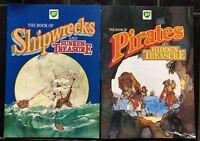 SET OF 2 BP VINTAGE 'Pirates And Shipwrecks' MAGAZINE COMIC BOOKS 1986