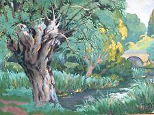 Très Belle Peinture Fauve Paysage  Huile Sur Carton Signés Devred 1929
