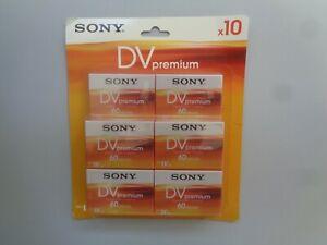 10 Cassette Video MiniDV SONY Premium 60min - K7 Mini DV Neuf