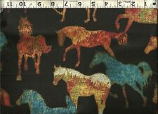 Quilting Treasures ~ Unbridled Horse Coordinate 2 ~ 100% Cotton Quilt Fabric BTY