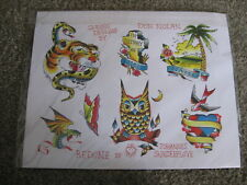 Lot of 5 High Quality Don Nolan Skindeeplove Tattoo Flash Color Sheets Sailor