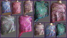 50pc Art Wholesale Lot Indian Designer Long Silk Scarf Wraps Shawl ChristmasGift