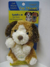 """""""Cuddles"""" Dog Fun Friends Plush Bar-style (3""""-5"""") Cell Phone Cover NEW"""