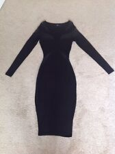 BLACK BODYCON DRESS - UK SIZE 8 - ASOS