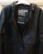 """Women's Large 23"""" GARAGE SPORT PARKA Jacket Hood Windproof Water Repellent Black"""